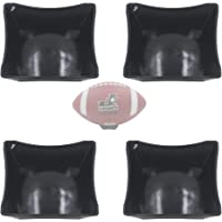 YYST Black Ball Display Stand Pedestal for Basketball Football Soccer Rugby, No Ball - 4/PK