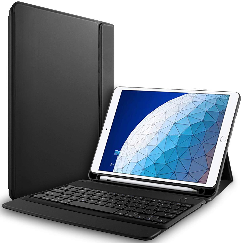 入園入学祝い RLTech - iPad Air 10.5キーボードケース - iPad Air 2019 2019 iPad 10.5/ iPad PRO 10.5用ワイヤレスキーボード付きワンピースキーボードカバー付き超薄型QWERTY PUケース、ブラック B07NR4NWSK, チューボーマニア:ec9d8641 --- senas.4x4.lt