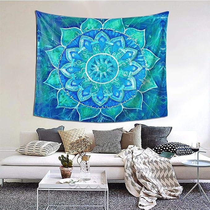 World Map Indian Tapestry Wall Hanging Hippie Mandala Throw Tie dye Dorm Decor