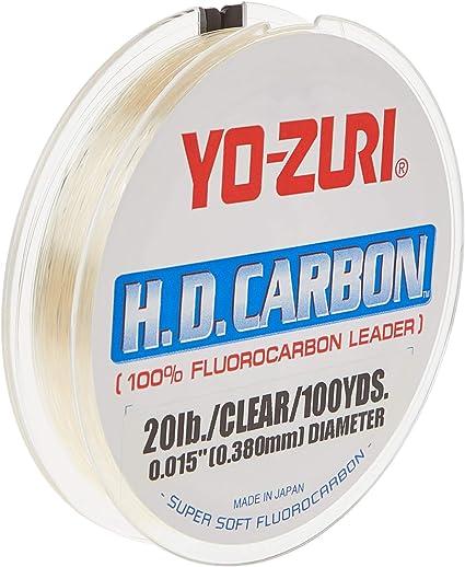Yo-Zuri Hd25lbdp HD 30 Yd 25 LB Fishing Fluorocarbon Leader Line for sale online