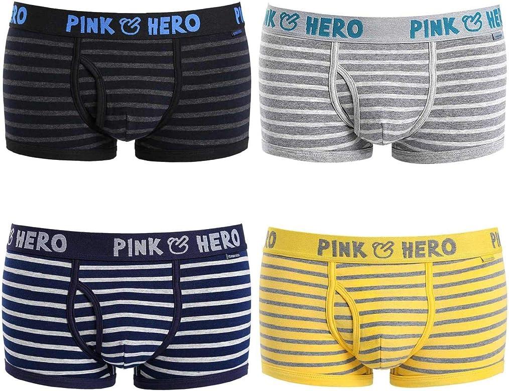 Ropa Interior de Hombre - Youson Girl® Pink Hero Bóxer para Hombre Slips Briefs para Hombre Calzoncillos Soft Cortos Suaves Pantalones Cortos Hombre: Amazon.es: Ropa y accesorios