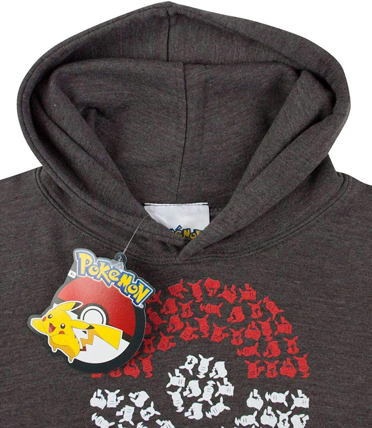 Pokemon Childrens/Kids Official Pikachu Pokeball Hoodie: Clothing
