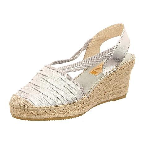 86920a89d57e5 Vidorreta Women's 18400phcl Plisadohid Fashion Sandals Silver Metallic