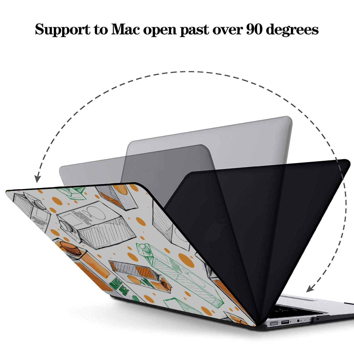 MacBook Air Shell Summer Sour Sweet Drink Juice Box Plastic Hard Shell Compatible Mac Air 11 Pro 13 15 Mac Pro Laptop Case Protection for MacBook 2016-2019 Version