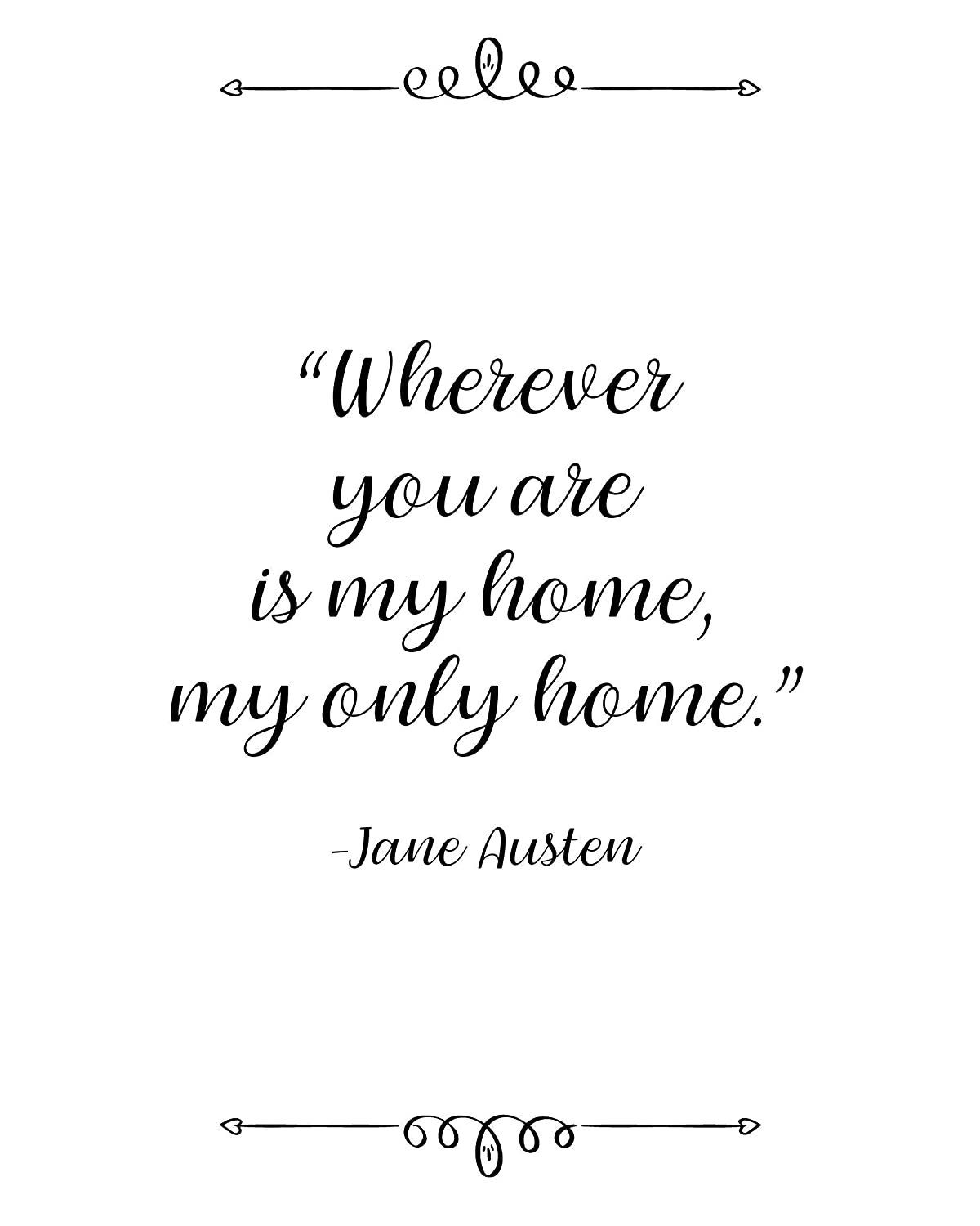 com jane austen wherever you are is my home quote wall