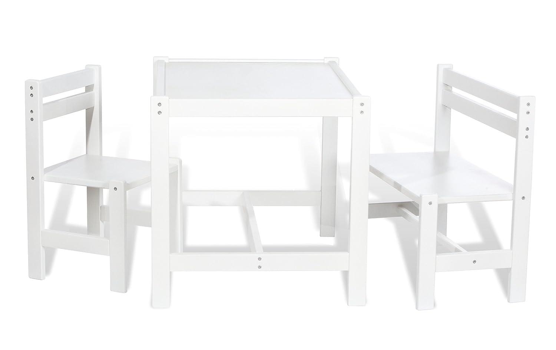 pinolino 202420 jouet en bois table et chaises enfant timo blanc amazonfr jeux et jouets - Chaise Et Table Enfant
