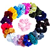 TRIXES Hair Scrunchie – Scrunchies for Girls – 20PC Velvet Scrunchie- Hair Bands for Women – Hair Accessories for Girls – Elastic Hair Band – Assorted Colors