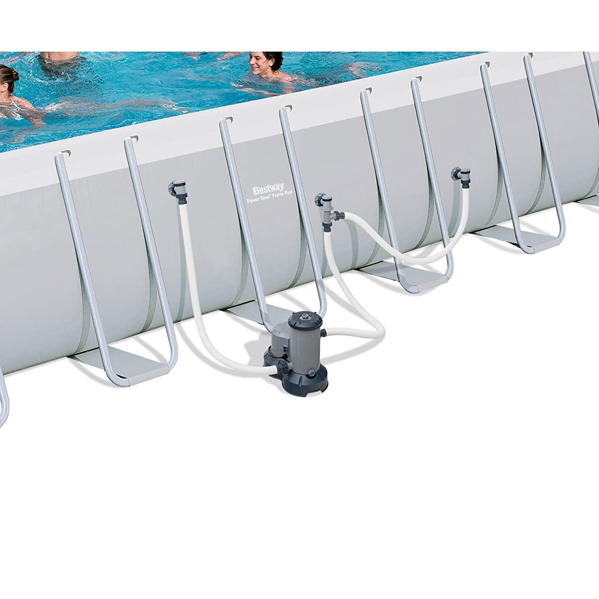 Bestway 24x12x52 Rectangular Frame Above Ground Swimming Pool Set | 56542E