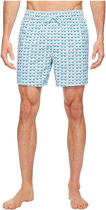 Original Penguin Mens Printed Elastic Waist Volley Swim Short