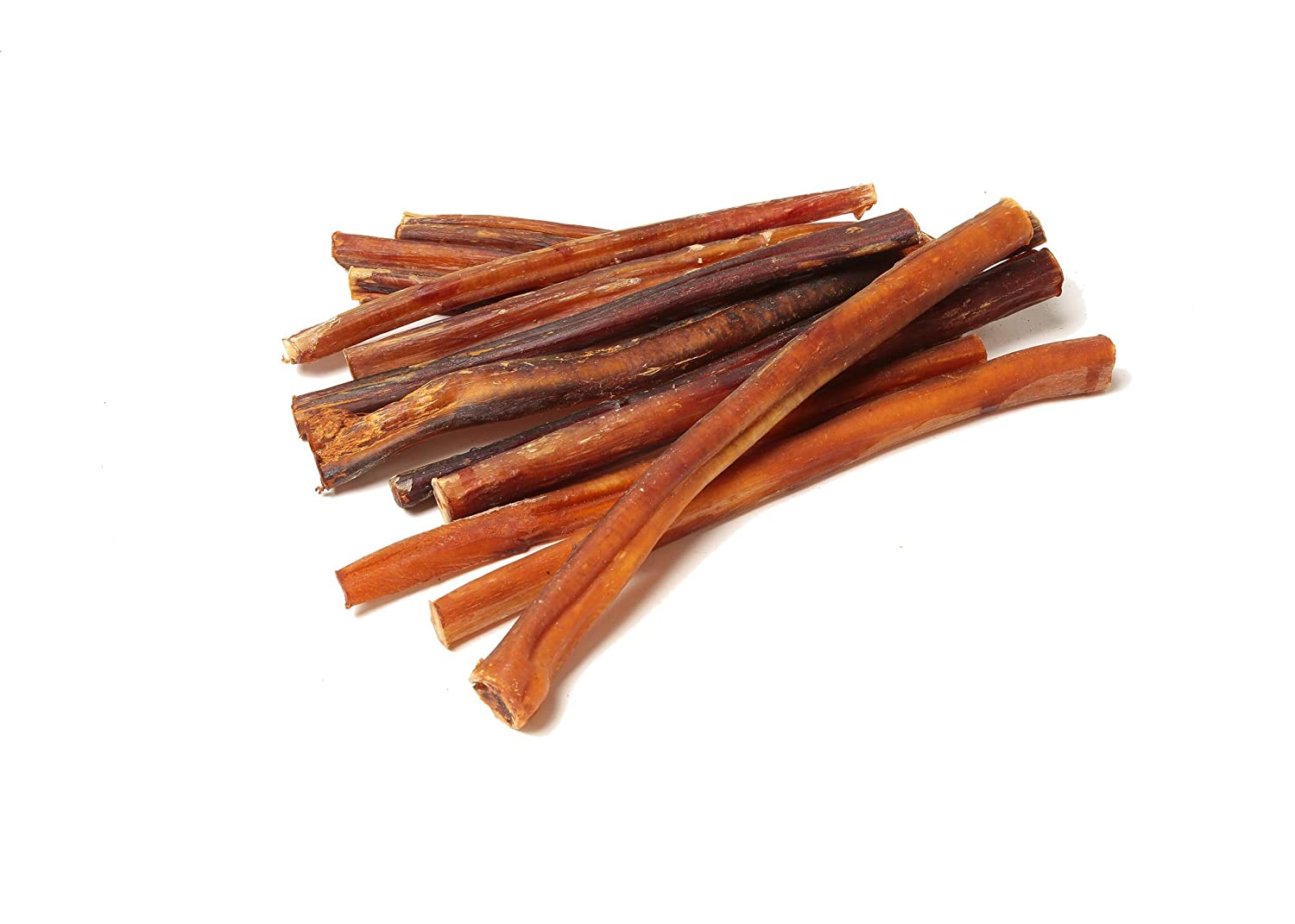 12 Pack 8 Inch-Thin Bully Sticks 12 Pack Truly Ugly with a Hint of Hickory by Natural Raw Chef
