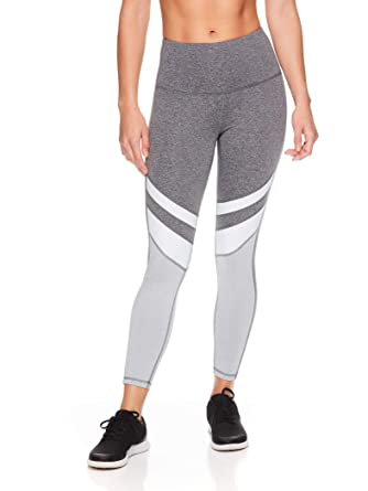 Reebok Womens 7/8 Workout Leggings w/High-Rise Waist ...