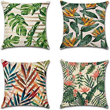 Fait main fleurs sur coussin en coton lin vert tailles cover.various