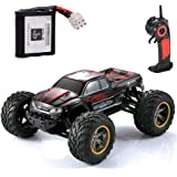 GPTOYS S911 RC Truck 33MPH 2.4GHz 2WD Off Road Waterproof Monster Remote Control Car, 1/12 Scale - Red(3rd Version)