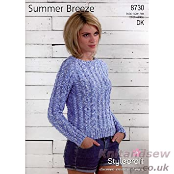 Stylecraft Summer Breeze Dk Knitting Pattern 8730 Amazon Baby