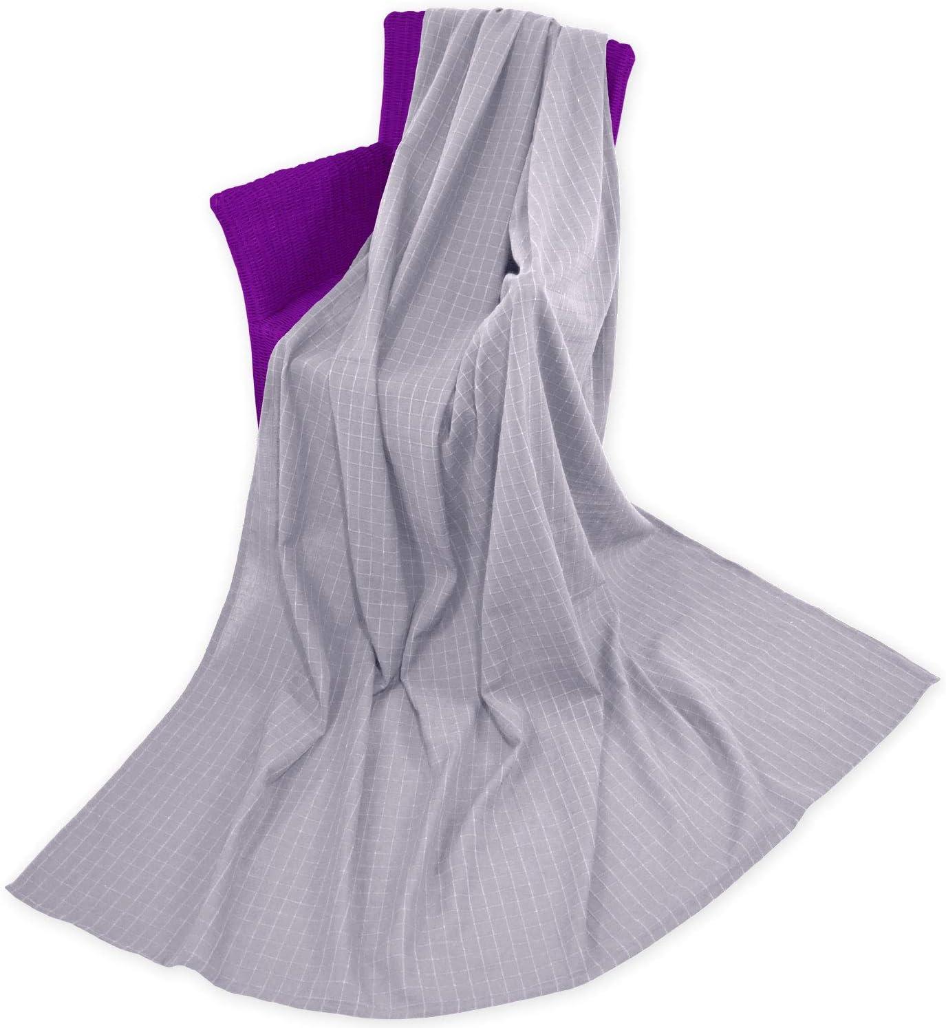 Qool24 Monika Sofa/überwurf 100/% Baumwolle /Überwurf Decke Sesselschoner Bett/überwurf Cappuccino 220 x 150 cm