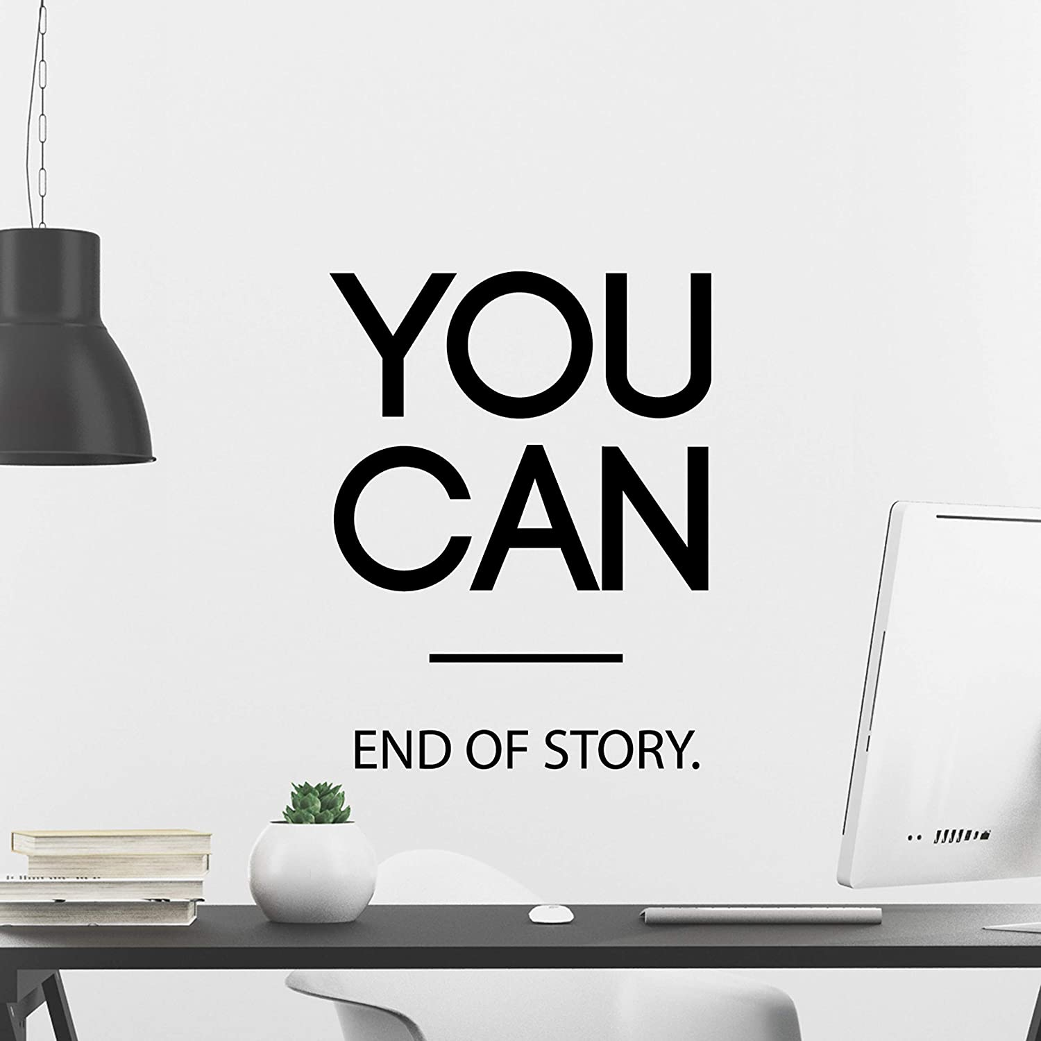 My Vinyl Story You CAN End of Story Wall Decal Inspirational Wall Decal Motivational Office Decor Quote Inspired Motivated Positive Wall Art Vinyl Gym Sticker School Classroom Decor