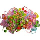 Knitting Stitch Counter | LeBeila Crochet Locking Stitch Markers Mix Multi-Colored Stitch Needle Clip/Safety Pins For knitting & Baby's Clothing Usage(Color Ship Randomly) (50PCS)