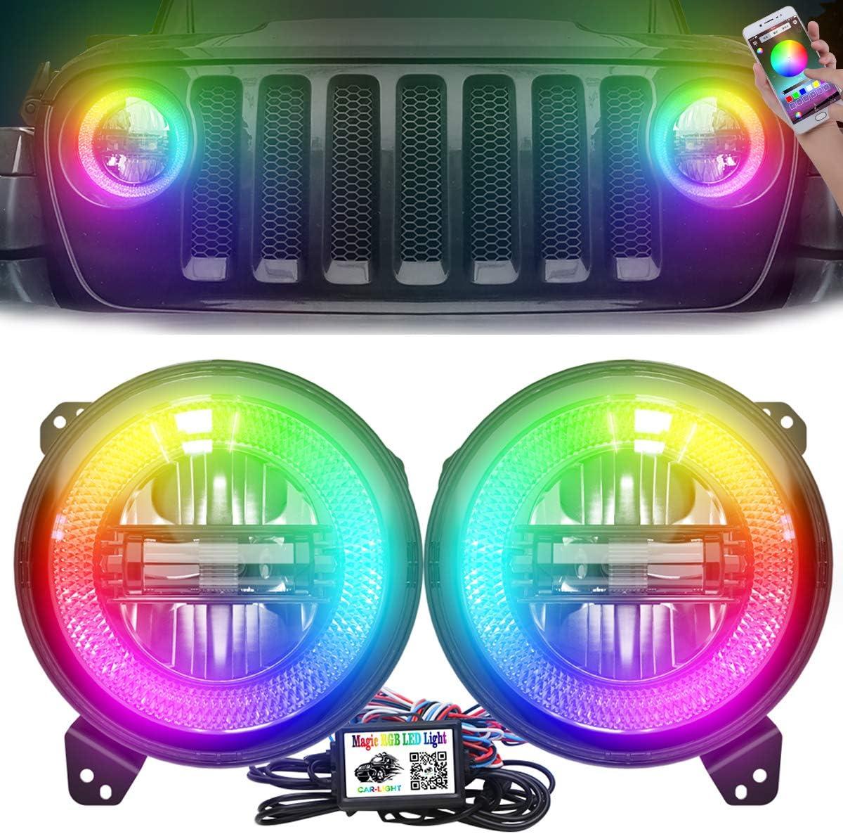 AUDEXEN Best Halo Lights For Jeep Wrangler