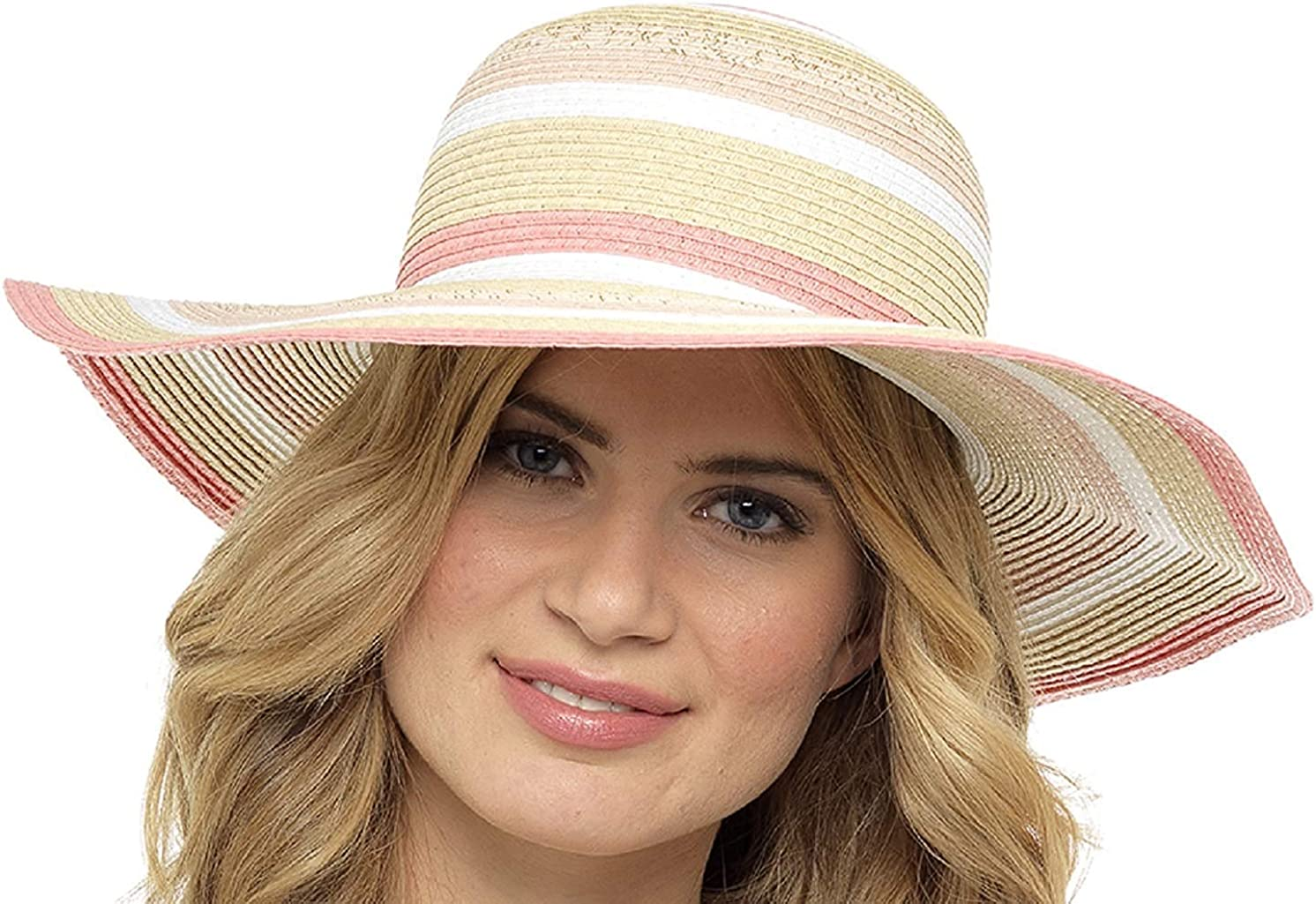 Octave Ladies Floppy Foldable Wide Brim Summer Straw Beach Holiday Sun Hats