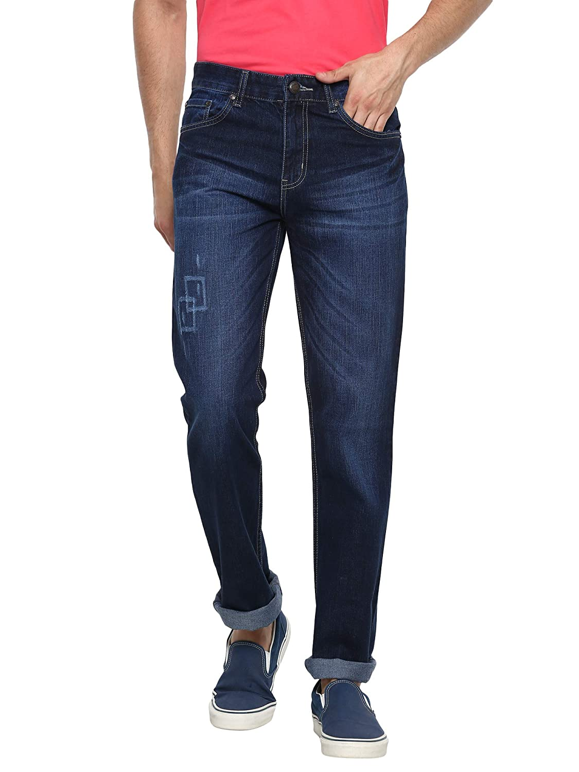 AMERICAN CREW Men's Straight Fit Jeans (Non Stretch)