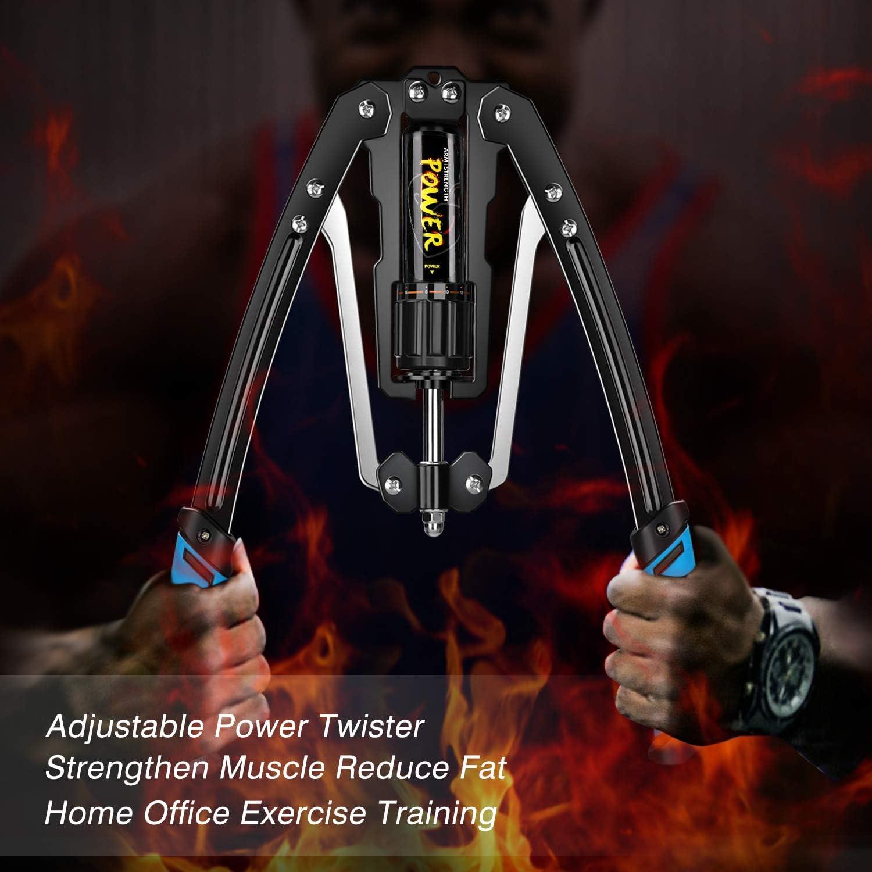 Riiai Power Twister - Ejercitador de brazo, máquina de entrenamiento muscular de brazo, presión hidráulica ajustable, 25-400 libras, para hombres y ...