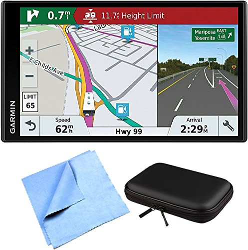 Garmin RV 770 NA LMT-S RV GPS Navigator for Camping Enthusiast w Hardshell Case Bundle Includes PocketPro XL Hardshell Case and Cleaning Cloth