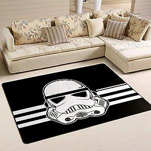 Stars Wars 5' x 7' Area Rug, Modern Carpet Floor Mats for Living Dining Dorm Bedroom Door Bathroom Home Decor