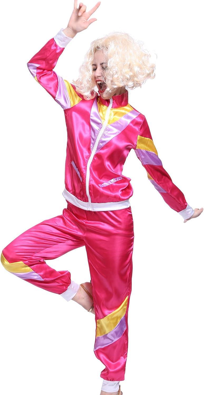 Maboobie - Disfraz de ochentero en chándal para Mujer Color Rosa ...