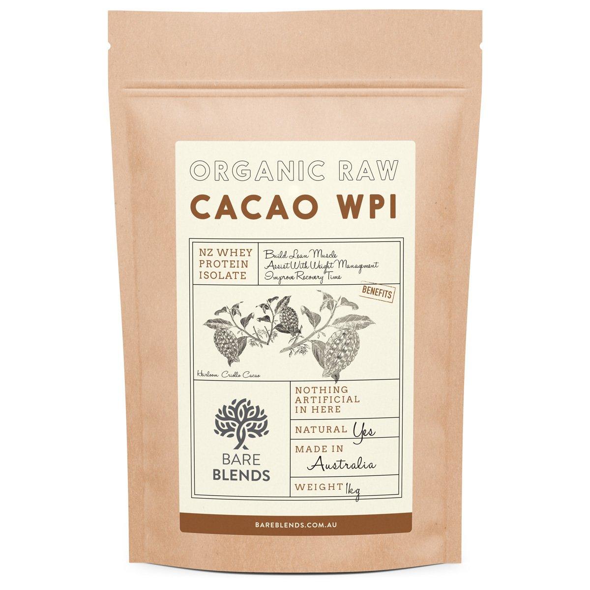 1kg Natural Whey Predein Isolate & Organic Raw Cacao   WPI   Chocolate Whey Predein Powder   Gluten Free   nonGMO   500g