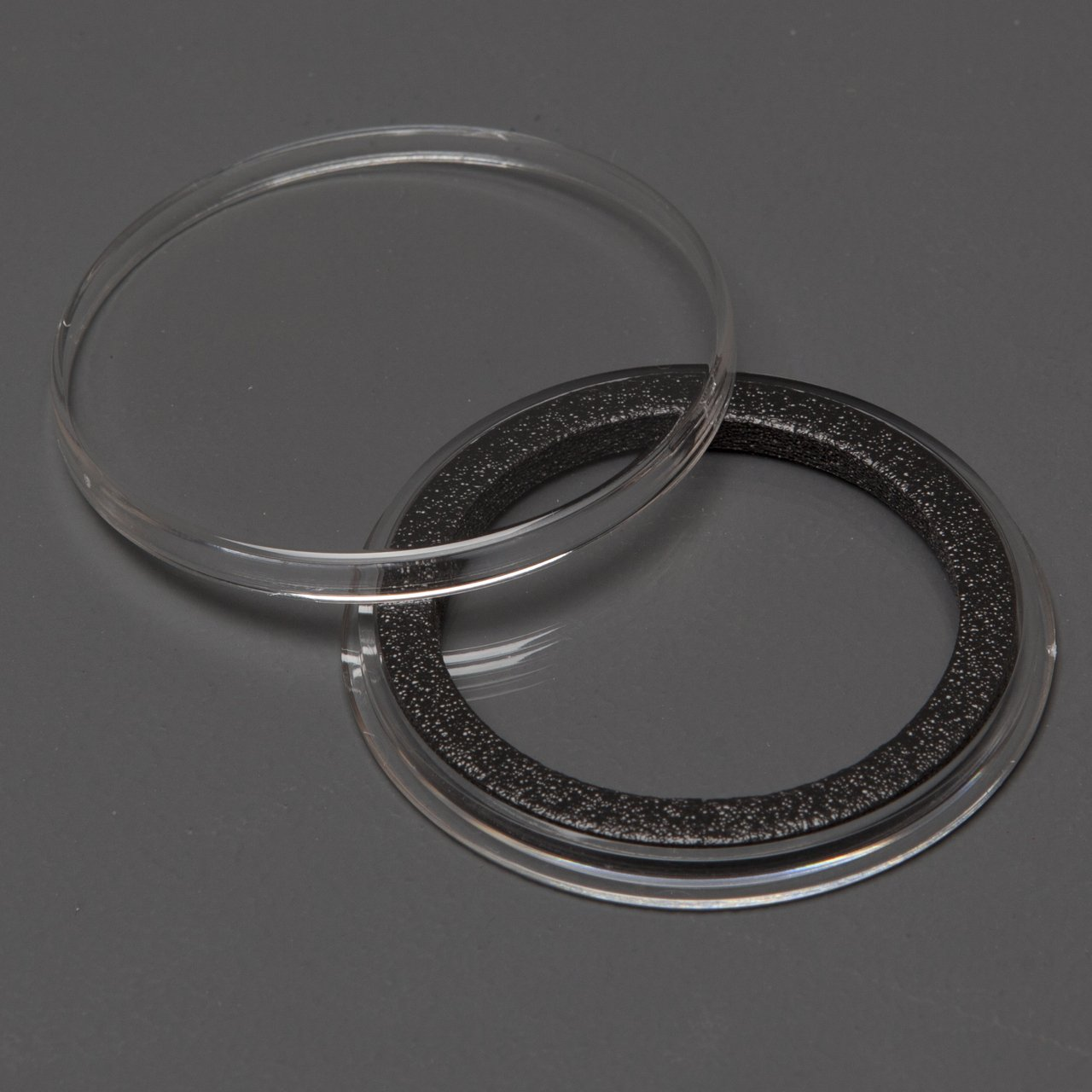 (25) Genuine Air-Tite Coin Holders Brand Black Ring Type Coin Capsules Protect your Valuable Silver, Gold, Platinum, Challenge, and Medallion Coins with our Crystal Clear Protective Holders (38mm Black Ring)