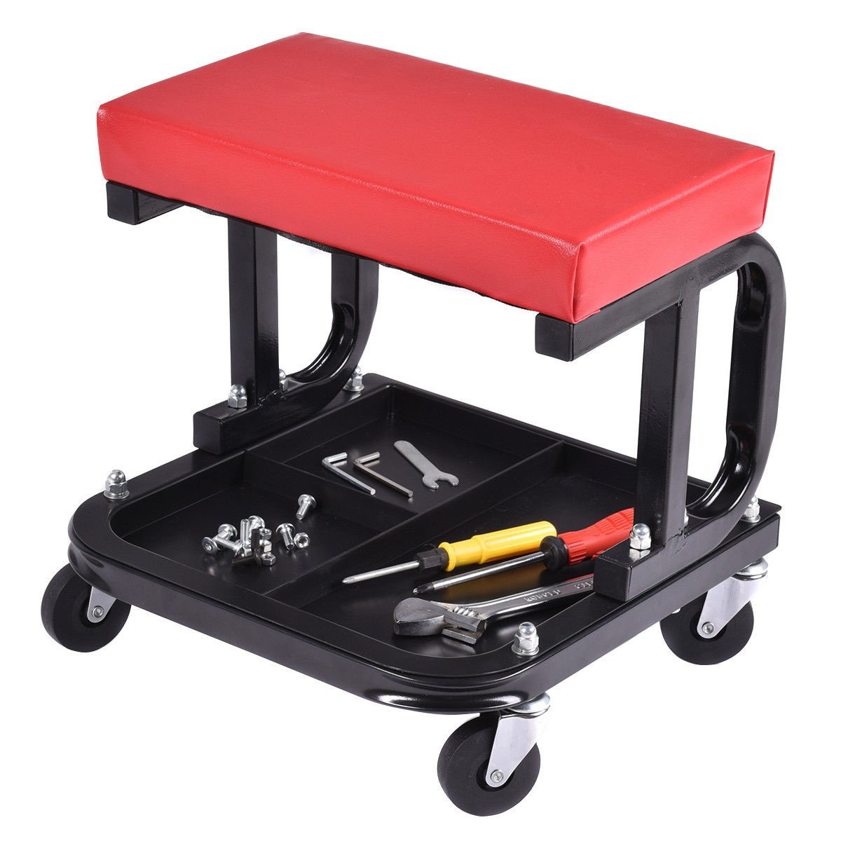 Rolling Creeper Seat Mechanic Stool Chair Repair Tools Tray Shop Auto Car Garage,NEW