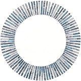 qualcosa di diverso rotonda mosaico a specchio, blu