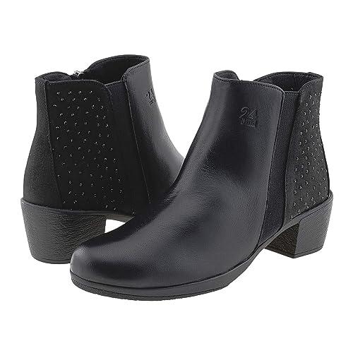 Botines Piel 23823 24 Horas Talla: 39 Color: Negro: Amazon.es: Zapatos y complementos