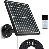 sumaitong Solar Panel Compatible with Video Doorbell (1st Gen & 2nd Gen) 2020 Release,Waterproof Solar Panel with 16ft/4…