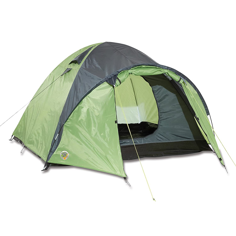 Igluzelt für 3 Personen Doppeldachzelt reflektierendes Gewebe inklusive Abspannleinen • Zelt Camping Festival Garten Trekkingzelt Kuppelzelt Iglu