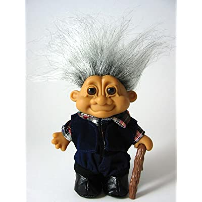 "Russ Berrie My Lucky Old Man Grandpa 6"" Troll Doll: Toys & Games"