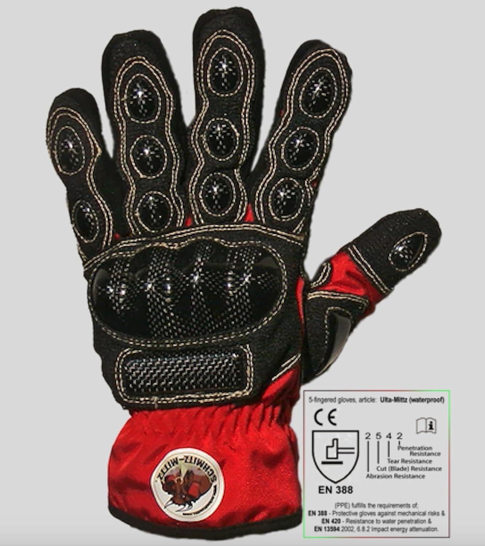schmitz mittz ulta mittz waterproof safety gloves red s