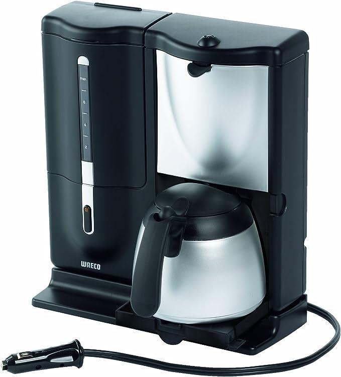 Waeco MC-08 8 Taza de Luxe – Cafetera eléctrica, 12 V, Plata/Negro: Amazon.es: Coche y moto