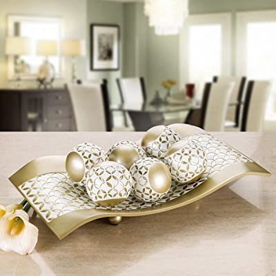 Buy Creative Scents Schonwerk Diamond Lattice Decorative Table Decorations Centerpieces For Dining Living Room Table Decor Dish Best Wedding Birthday Gift Gold White Online In Indonesia B01m11abhc