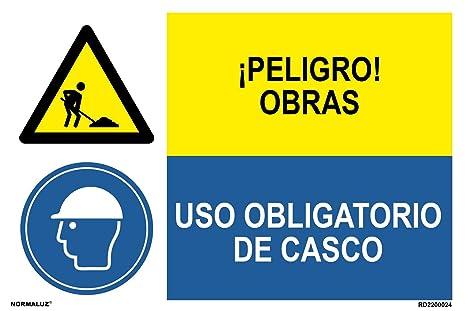 Normaluz PRD2200024 - Señal Combinada Homologada ¡Peligro! Obras ...