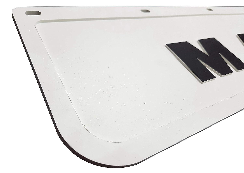 rimorchio colore bianco con nero 60 x 18 cm 2 pezzi Parafanghi in gomma resistente per camion