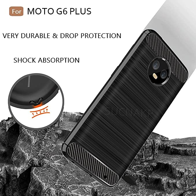 ... Generation) case,Moto G6+ Case, Suensan TPU Shock Absorption Technology Raised Bezels Protective Case Cover for Motorola Moto G6 Plus Case (Black): Cell ...