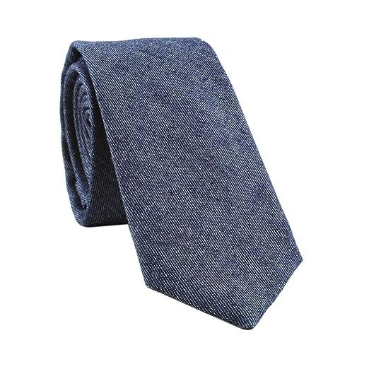 Houlife Mens Cotton Floral Skinny Tie Slim Necktie For Wedding Party