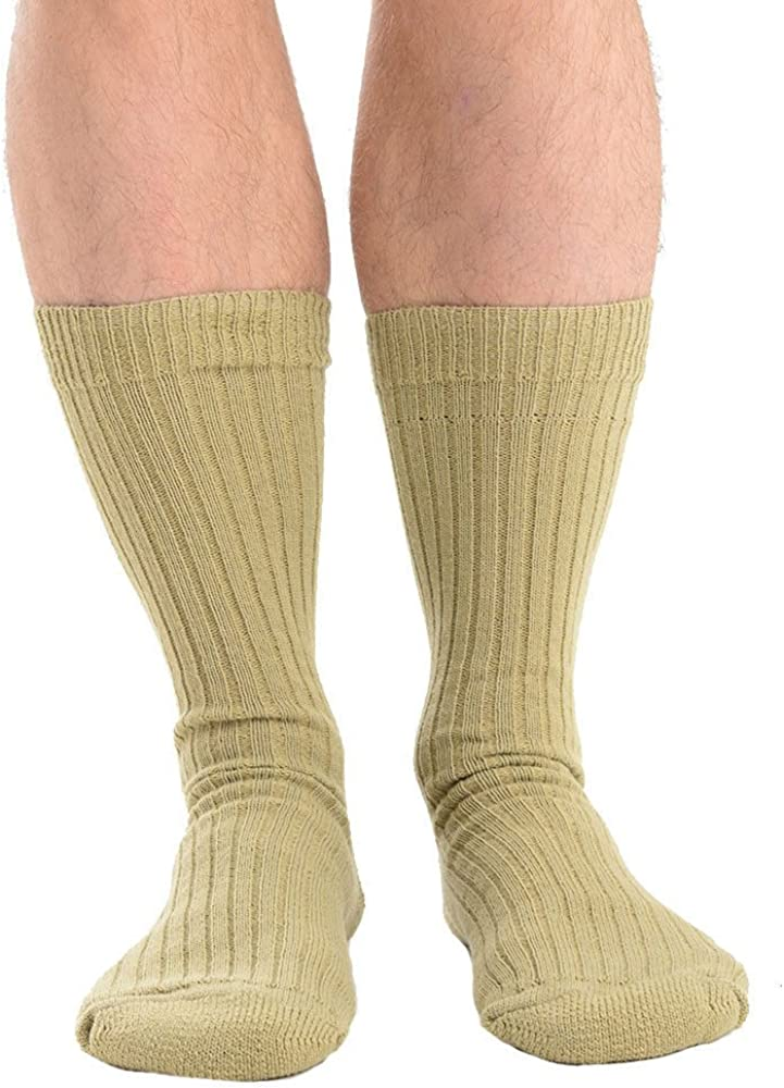 Mens Military Action Cotton Thermal Long Hose Knee Socks 6 Colours UK 6-11