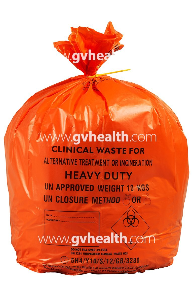 20L Small Orange Medium Duty Clinical Waste Bags (50 Bags) GV Health