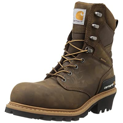 "Carhartt Men's 8"" Waterproof Composite Toe Leather Logger Boot CML8360 