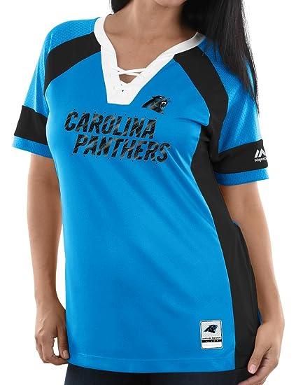 468c01dd334f9 Amazon.com : Majestic Carolina Panthers Womens Draft Me Lace-Up ...