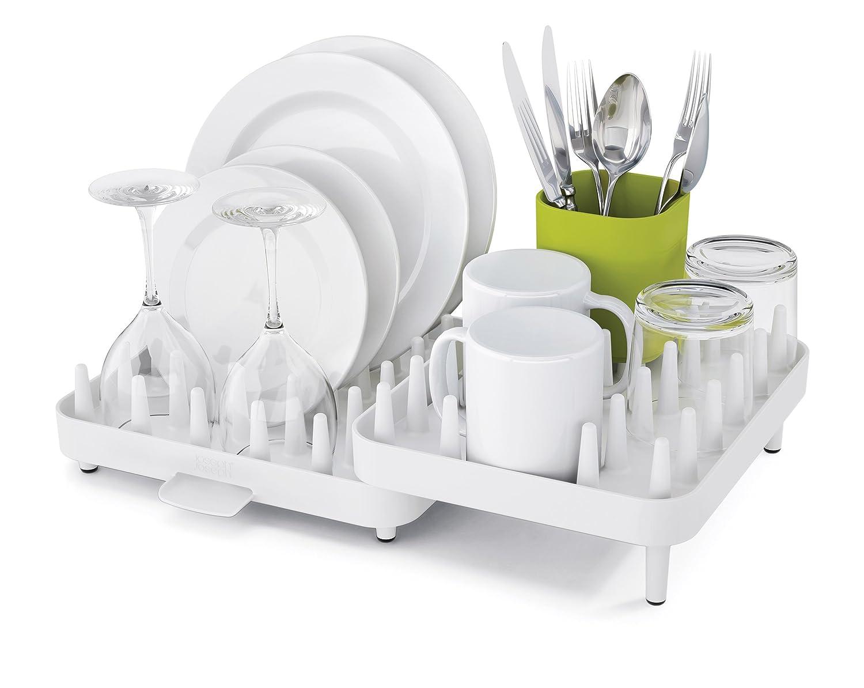 ccbbbbf4e836 Joseph Joseph Connect Adjustable 3-Piece Dishrack - Off-White Green   Amazon.co.uk  Kitchen   Home