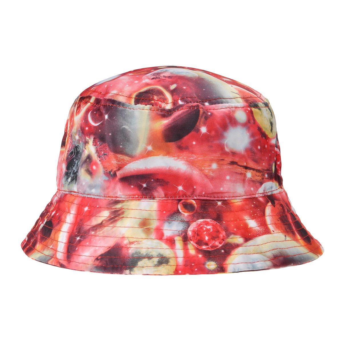 ZLYC Unisex Galaxy Bucket Hat Summer Fisherman Cap for Men Women, Black FBA-ZYJ-MZ-134-BK