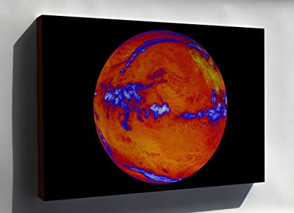 Thermal Map Of The World.Amazon Com Canvas 16x24 World Heat Engine Thermal Map Of The